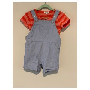 Pure Baby 6-12 months two-piece shirt overalls